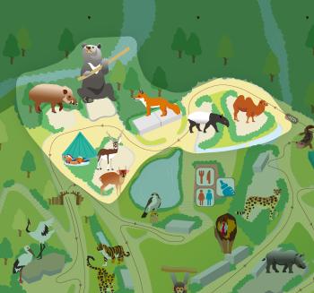 [マップ]ゾーン6:日本、アジアの動物